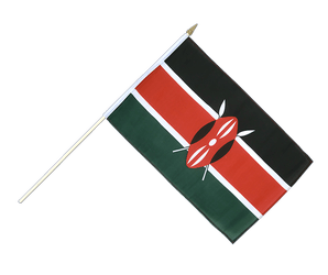 Kenya Hand Waving Flag 12x18""