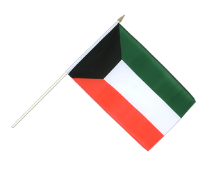 Kuwait Hand Waving Flag 12x18""
