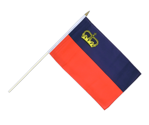 Liechtenstein - Hand Waving Flag 12x18""