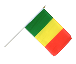 Mali Hand Waving Flag 12x18""