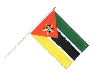 Mozambique Hand Waving Flag 12x18""