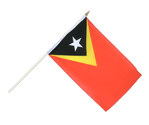 East Timor - Hand Waving Flag 12x18""