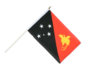 Papua New Guinea Hand Waving Flag 12x18""