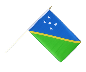 Solomon Islands Hand Waving Flag 12x18""