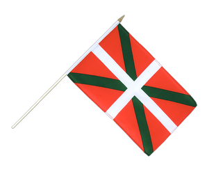 Basque country Hand Waving Flag 12x18""