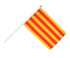 Catalonia - Hand Waving Flag 12x18""