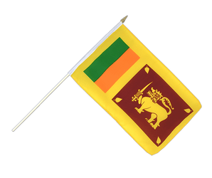 Sri Lanka Hand Waving Flag 12x18""