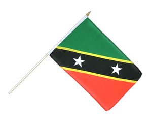 Saint Kitts and Nevis - Hand Waving Flag 12x18""
