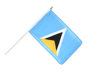 St. Lucia Stockflagge 30 x 45 cm