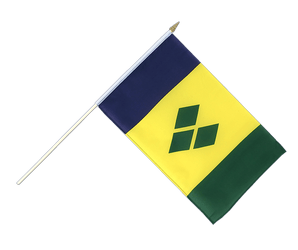 Saint Vincent and the Grenadines Hand Waving Flag 12x18""