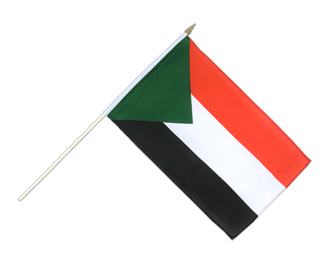 Sudan Hand Waving Flag 12x18""