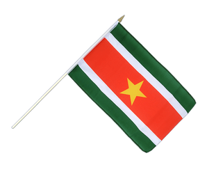 Suriname Hand Waving Flag 12x18""