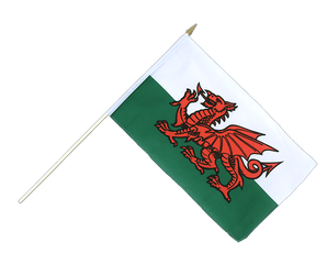 Wales Hand Waving Flag 12x18""