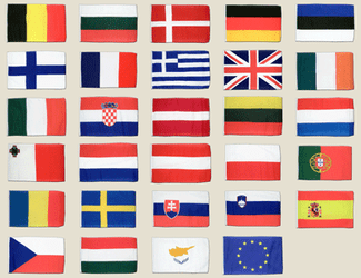 European Union Small Flag Pack 12x18""