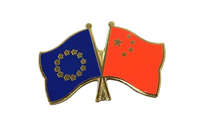 EU + China Crossed Flag Pin