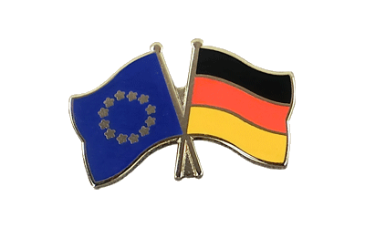 EU + Germany Crossed Flag Pin