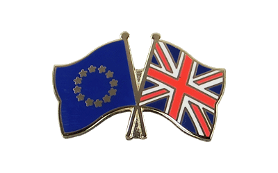 EU + Great Britain Crossed Flag Pin