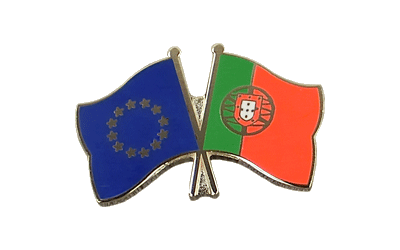 EU + Portugal Crossed Flag Pin