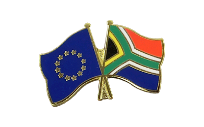 EU + South Africa Crossed Flag Pin