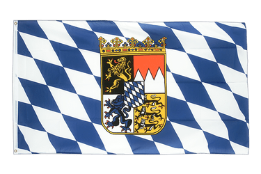 Bavaria with crest - 2x3 ft Flag