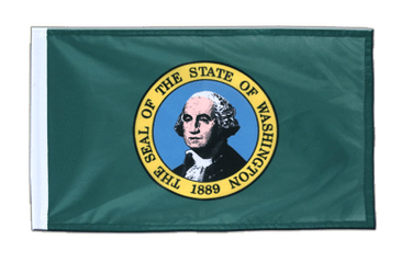 Petit drapeau Washington 30 x 45 cm