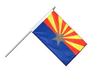 Arizona Drapeau sur hampe 30 x 45 cm