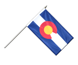 Colorado Drapeau sur hampe 30 x 45 cm