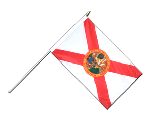 Florida - Hand Waving Flag 12x18""
