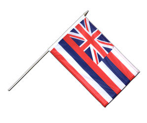 Hawaii Drapeau sur hampe 30 x 45 cm