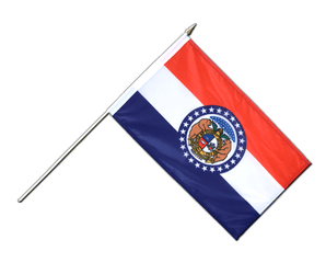 Missouri - Hand Waving Flag 12x18""