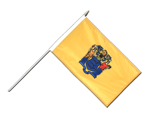 New Jersey Hand Waving Flag 12x18""
