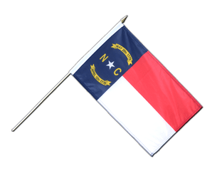 North Carolina Hand Waving Flag 12x18""