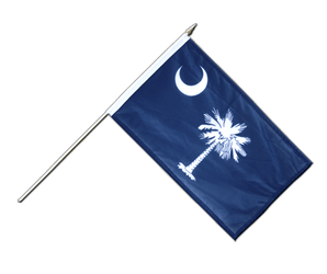 South Carolina - Hand Waving Flag 12x18""