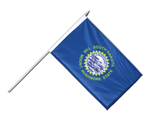 South Dakota - Hand Waving Flag 12x18""