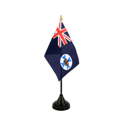 Mini drapeau de table Queensland 10 x 15 cm