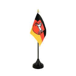 Lower Saxony Table Flag 4x6""