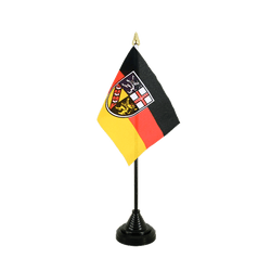 Saarland Table Flag 4x6""