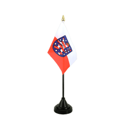 Mini drapeau de table Thuringe - 10 x 15 cm
