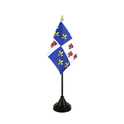 Mini drapeau de table Picardie - 10 x 15 cm