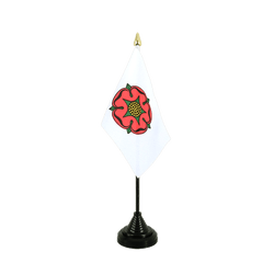 Mini drapeau de table Lancashire rose rouge 10 x 15 cm