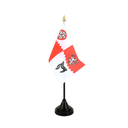 Mini drapeau de table Leicestershire - 10 x 15 cm