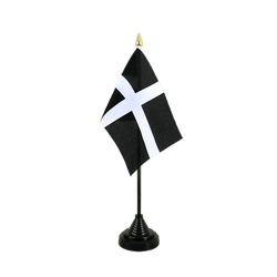 St. Piran Cornwall Table Flag 4x6""