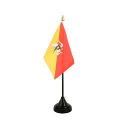 Italy Sicily - Table Flag 4x6""
