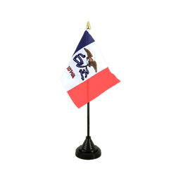 Mini drapeau de table Iowa - 10 x 15 cm