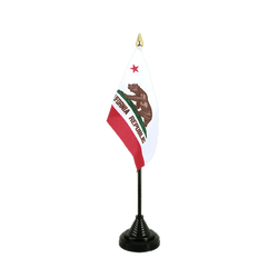 Californie Mini drapeau de table 10 x 15 cm