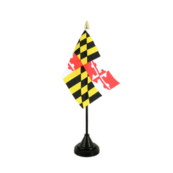 Maryland Table Flag 4x6""