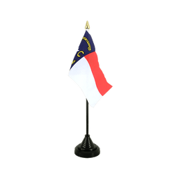 Mini drapeau de table North Carolina 10 x 15 cm