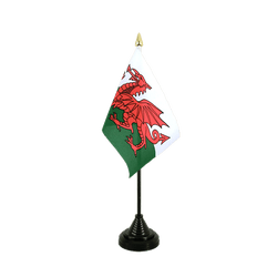 Wales Table Flag 4x6""