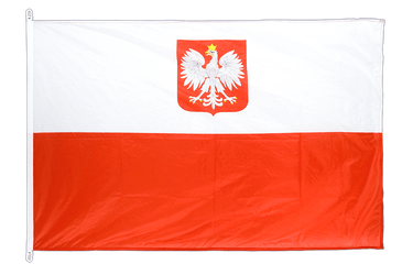 Poland with eagle - Flag PRO 100 x 150 cm