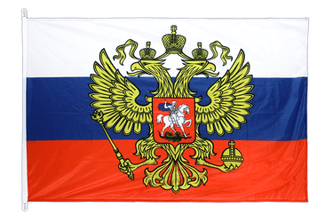 Russia with crest Flag PRO 100 x 150 cm